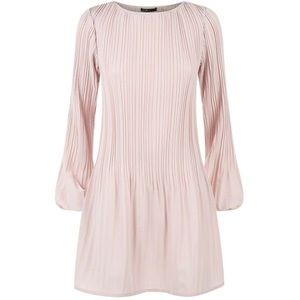 Maje Pleated long sleeve dress